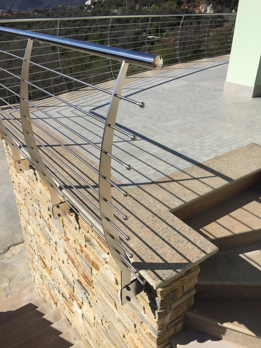 Ringhiere Per Terrazze Esterne parapetto esterno ringhiera dei terrazzi in acciaio inox