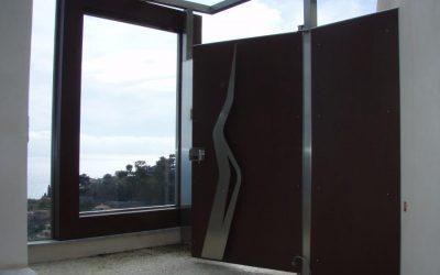 Cancelletto pedonale in acciaio aisi 316L e legno