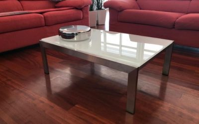 Tavolino basso in acciaio