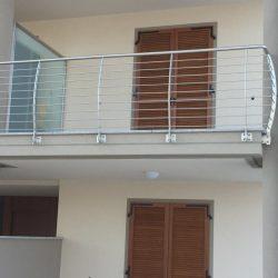 Ringhiera balcone in acciaio modello arco