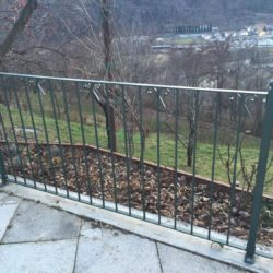 Railing for small iron terrace